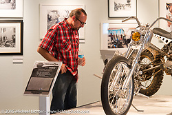 Brian Klock in the Naked Truth exhibition at the Buffalo Chip gallery during the 75th Annual Sturgis Black Hills Motorcycle Rally.  SD, USA.  August 5, 2015.  Photography ©2015 Michael Lichter.