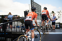 Rally UHC Cycling climb the ramp to sign on at Deakin University Elite Women Cadel Evans Road Race 2019, a 113 km road race starting and finishing in Geelong, Australia on January 26, 2019. Photo by Sean Robinson/velofocus.com