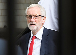 © Licensed to London News Pictures. 10/07/2019. London, UK. Labour Party Leader JEREMY CORBYN is seen at the House of Parliament in Westminster, London on the day the a BBC Panorama documentary focusing on alleged anti-semitism in the Labour Party is due to be run. Photo credit: Ben Cawthra/LNP