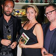 NLD/Amsterdam/20120917- Boekpresentatie Liefdespanter, Marcel Langedijk, Do, Dominique van Hulst en Jan Heemskerk