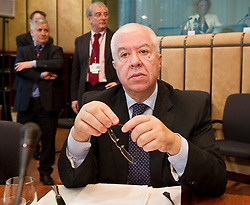 JFernando Teixeira Dos Santos, Portugal's finance minister, waits for the start of the meeting of European Union finance ministers in Brussels, Belgium, on Monday, May 17, 2010. (Photo © Jock Fistick)
