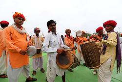 July 19, 2017 - Banswara, Rajasthan, India - India main opposition Congress Party Vice President Rahul Gandhi supporters during the 'Kisan Akrosh Rally ' at Banswara in Rajasthan on 19th July,2017. (Credit Image: © Vishal Bhatnagar/NurPhoto via ZUMA Press)