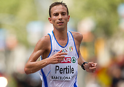 Ruggero Pertile of Italy competes in the Mens Marathon during day six of the 20th European Athletics Championships at the roads of city Barcelona on August 1, 2010 in Barcelona, Spain. (Photo by Vid Ponikvar / Sportida)