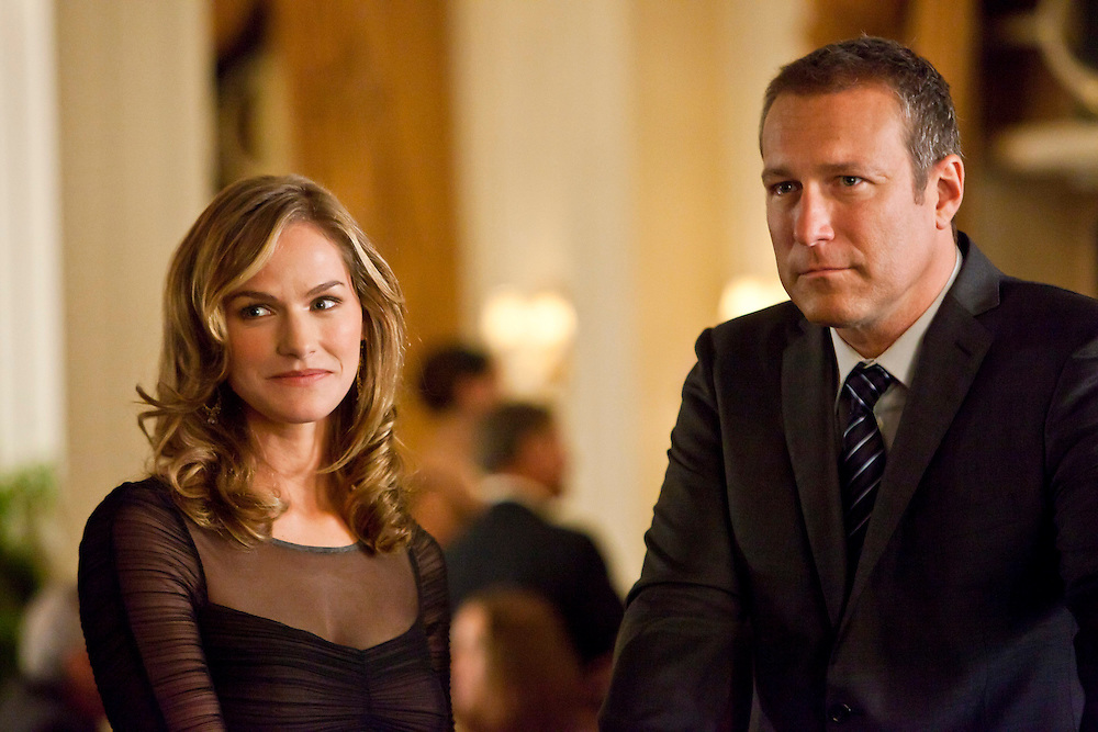 Kelly Overton as Det. Deedee Bowen and John Corbett as Det. Sgt. Duncan Hatcher in TNT's 'Ricochet' based on the book by #1 New York Times best-selling author Sandra Brown about a case of murder and betrayal in high-society Savannah.