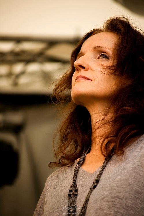 Patty Griffin on stage performing with Buddy Miller at The Appel Farm 2010 Arts & Music Festival in Elmer, NJ.