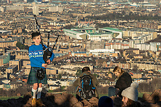 Piping out the old year, Edinburgh, 31 December 2019