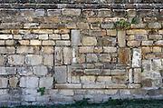 Detail of ornamental stonework at Monte Alban, Oaxaca, Mexico.