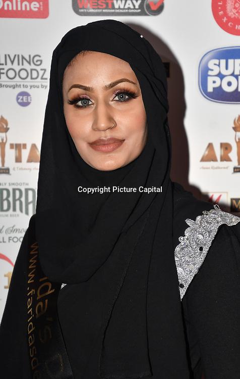 Eniyah Rana of Modest Street Hijabi Makeup Stylist and blogger attend Asian Restaurant & Takeaway Awards   ARTA 2018 at InterContinental London - The O2, London, UK. 30 September 2018.