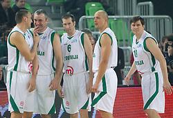 Roman Horvat, Sasa Doncic, Jaka Daneu, Boris Gorenc in Vlado Micunovic na Dnevu slovenske moske kosarke 2010, on January 2, 2011 in Arena Stozice, Ljubljana, Slovenia.  (Photo By Vid Ponikvar / Sportida.com)