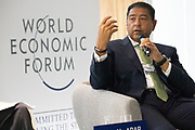 Hisham Ezz-Al-Arab, Chairman and Managing Director, Commercial International Bank (CIB), Egypt speaking during the session Fighting Financial Crime at the World Forum World Economic Forum on Africa 2019. Copyright by World Economic Forum / Greg Beadle