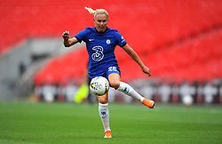Jonna Andersson of Chelsea Women tries to control the ball- Mandatory by-line: Nizaam Jones/JMP - 29/08/2020 - FOOTBALL - Wembley Stadium - London, England - Chelsea v Manchester City - FA Women's Community Shield