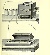 The Reis Telephone Transmitter and Receiver. Johann Philipp Reis (January 7, 1834 – January 14, 1874) was a self-taught German scientist and inventor. In 1861, he constructed the first make-and-break telephone, today called the Reis telephone. From the Book Les merveilles de la science, ou Description populaire des inventions modernes [The Wonders of Science, or Popular Description of Modern Inventions] by Figuier, Louis, 1819-1894 Published in Paris 1867