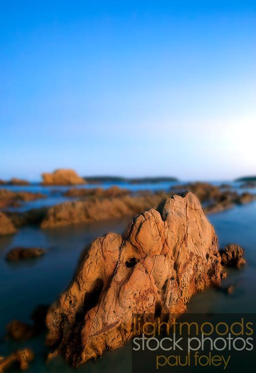 Rocky shoreline, Mossy Point, NSW, Australia