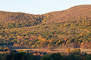 The early morning sun shines on Schunnemunk Mountain in Cornwall, N.Y., on Oct. 15, 2019.