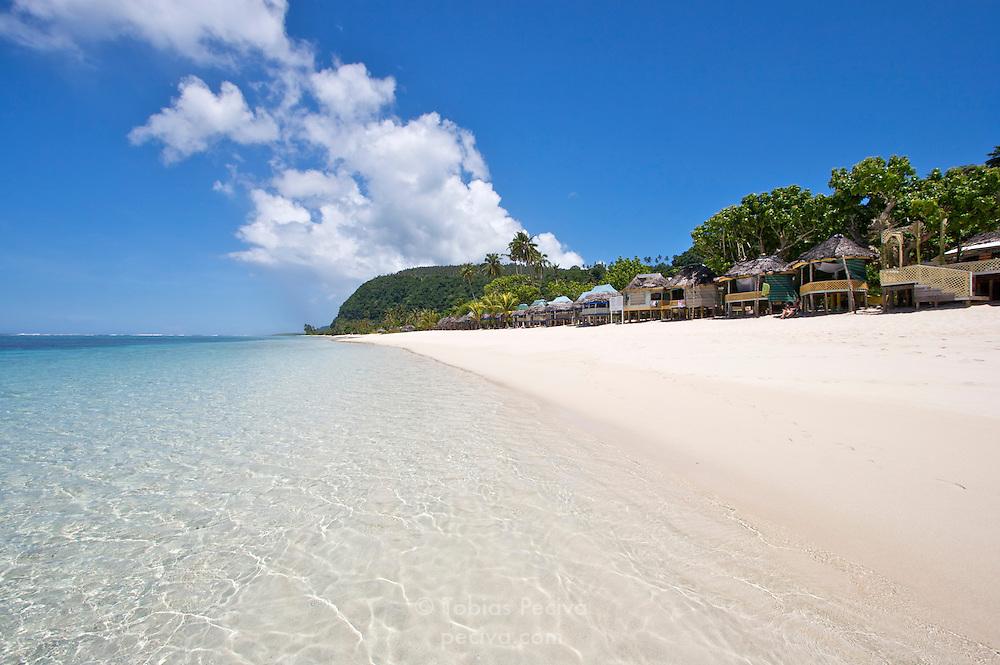 Lalomanu Beach, near the eastern tip of Upolu, Western Samoa.
