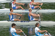 2004 FISA World Cup Regatta Lucerne Switzerland. 18.06.04..Photo Peter Spurrier..GBR M2- Rick Dunn and Toby Garbutt [Bow] Rowing Course, Lake Rottsee, Lucerne, SWITZERLAND. [Mandatory Credit: Peter Spurrier: Intersport Images]