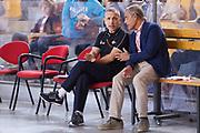 DESCRIZIONE : Roma Serie A2 2015-16 Acea Virtus Roma Benacquista Assicurazioni Latina<br /> GIOCATORE : Guido Saibene - Claudio Toti<br /> CATEGORIA : pre game pre partita presidente coach allenatore<br /> SQUADRA : Acea Virtus Roma<br /> EVENTO : Campionato Serie A2 2015-2016<br /> GARA : Acea Virtus Roma Benacquista Assicurazioni Latina<br /> DATA : 27/09/2015<br /> SPORT : Pallacanestro <br /> AUTORE : Agenzia Ciamillo-Castoria/G.Masi<br /> Galleria : Serie A2 2015-2016<br /> Fotonotizia : Roma Serie A2 2015-16 Acea Virtus Roma Benacquista Assicurazioni Latina