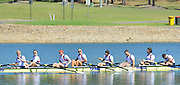 Sydney, Australia.  GBR M8+ Men's eight celebrate after wining the final, Bow Dan RITCHIE, Tom RANSLEY, Lance TWEDELL, Matt GOTREL, Mo SBIHI, Alex GREGORY, Pete REED, Andy TRIGGS HODGE and Cox Phelan HILL.  World Cup I. and  Sydney International Rowing Regatta. Sydney International Rowing Centre, Penrith Lakes, NSW. Sunday   24/03/2013 [Mandatory Credit. Peter Spurrier/Intersport Images]..