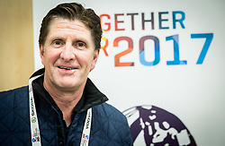 """Michael """"Mike"""" Babcock Jr.,  Canadian professional ice hockey head coach during the 2017 IIHF Men's World Championship, on May 8, 2017 in Accorhotels Arena in Paris, France. Photo by Vid Ponikvar / Sportida"""