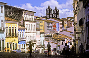 Pelourinho historical neighbourhhood, Salvador de Bahia, Brazil.