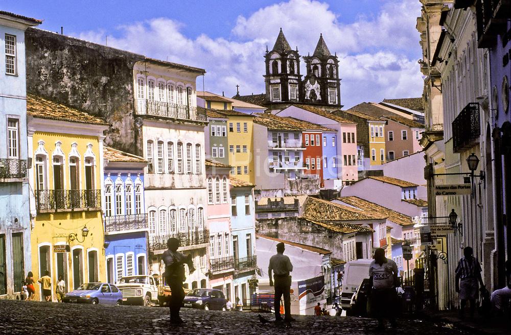 Pelourinho historical neighbourhhood, Salvador de Bahia, Brazil.
