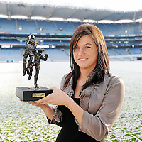 29 November 2010; Sinead Kelly who was presented with the Lucozade Sport/Irish Independent Player of the Month for October. The West Clare Gaels full back was in superb form in the month of October with a number of fantastic defensive displays mixed with exciting forward runs. Sinead picked up two player of the match awards during October, her first in the Munster Intermediate final and the second in the All-Ireland Intermediate quarter final against Parnells in London. West Clare Gaels recently won the Intermediate final against St Conleths of Laois helped by yet another superb performance from Sinead. Croke Park, Dublin. Picture credit: Brendan Moran / SPORTSFILE *** NO REPRODUCTION FEE ***