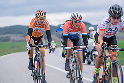 Lucinda Brand and Nikki Harris still in contention despite their earlier efforts - 2016 Strade Bianche - Elite Women, a 121km road race from Siena to Piazza del Campo on March 5, 2016 in Tuscany, Italy.