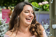 TKelly Brook on the On the Edge:The Centre ofr Mental health Garden - he Hampton Court Flower Show, organised by the Royal Horticultural Society (RHS). In the grounds of the Hampton Court Palace, London.