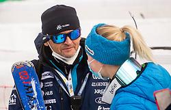 Jure Hafner Hefo and Meta Hrovat (SLO) during 2nd Run of Ladies' Giant Slalom at 57th Golden Fox event at Audi FIS Ski World Cup 2020/21, on January 17, 2021 in Podkoren, Kranjska Gora, Slovenia. Photo by Vid Ponikvar / Sportida