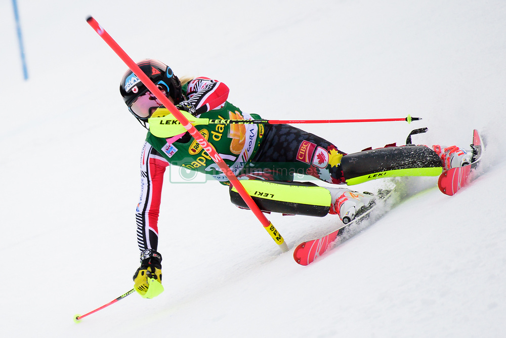 January 7, 2018 - Kranjska Gora, Gorenjska, Slovenia - Erin Mielzynski of Canada competes on course during the Slalom race at the 54th Golden Fox FIS World Cup in Kranjska Gora, Slovenia on January 7, 2018. (Credit Image: © Rok Rakun/Pacific Press via ZUMA Wire)
