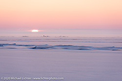 Sunset over Lake Baikal after the Baikal Mile Ice Speed Festival. Maksimiha, Siberia, Russia. Monday, March 2, 2020. Photography ©2020 Michael Lichter.