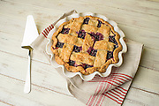 Huckleberry's picked from the slopes of Mount Adams and baked into a pie by Cynthia Classen.
