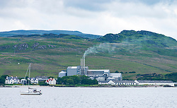 View of Port Ellen Distillery on island of Islay in Inner Hebrides of Scotland, UK