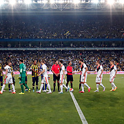 Fenerbahce's and Shakhtar Donetsk's players during their UEFA Champions league third qualifying round first leg soccer match Fenerbahce between Shakhtar Donetsk at the Sukru Saracaoglu stadium in Istanbul Turkey on Tuesday 28 July 2015. Photo by Aykut AKICI/TURKPIX