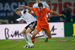 15.11.2011, Imtech Arena, Hamburg, GER, FSP, Deutschland (GER) vs Holland (NED), im Bild Toni Kroos GER #18 Bayern) Kevin Strootman (NED #08 PSV Eindhoven)9 // during the Match Gemany (GER) vs Netherland (NED) on 2011/11/15,  Imtech Arena, Hamburg, Germany. EXPA Pictures © 2011, PhotoCredit: EXPA/ nph/ Kokenge..***** ATTENTION - OUT OF GER, CRO *****