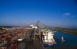Tankers docked at the Port of Houston
