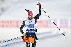 March 16, 2019 - –Stersund, Sweden - 190316 Benedikt Doll of Germany  celebrates after the Men's 4x7,5 km Relay during the IBU World Championships Biathlon on March 16, 2019 in Östersund..Photo: Petter Arvidson / BILDBYRÃ…N / kod PA / 92269 (Credit Image: © Petter Arvidson/Bildbyran via ZUMA Press)