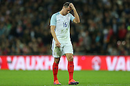 Phil Jagielka of England looks dejected. England v Spain, Football international friendly at Wembley Stadium in London on Tuesday 15th November 2016.<br /> pic by John Patrick Fletcher, Andrew Orchard sports photography.