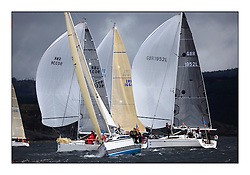 Brewin Dolphin Scottish Series 2011, Tarbert Loch Fyne - Yachting - Day 1 of the 4 day series...GBR6917T ,Celtic Spirit ,Brian Robertson ,CCC ,X332 amongst Class 3 spinnakers..
