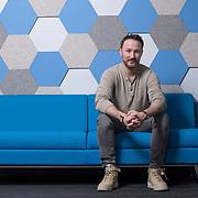 Portrait of Josh Mandel-Brehm the CEO of Camp4 Therapeutics in Cambridge, MA