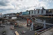 Slussen östra bro rivs