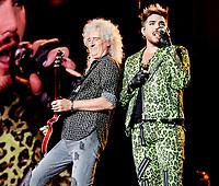 Queen + Adam Lambert  at Fire Fight Australia at the  ANZ Stadium Sydney Australa 16 Feb 2020 Photo BY Rhiannon Hopley