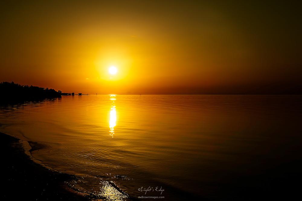 The sun rises over Coco Plum in Marathon, FL.