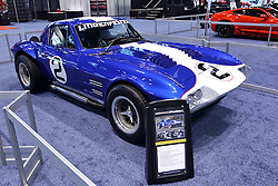 09 February 2017: Early 1960's Lingenfelter Chevrolet Corvette<br /> <br /> First staged in 1901, the Chicago Auto Show is the largest auto show in North America and has been held more times than any other auto exposition on the continent.  It has been  presented by the Chicago Automobile Trade Association (CATA) since 1935.  It is held at McCormick Place, Chicago Illinois<br /> #CAS17