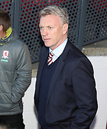 David Moyes manager of Sunderland during the English Premier League match at Riverside Stadium, Middlesbrough. Picture date: April 26th, 2017. Pic credit should read: Jamie Tyerman/Sportimage
