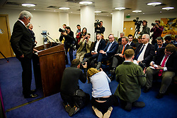 © Licensed to London News Pictures. 08/05/2017. London, UK. UKIP party leader PAUL NUTTALL (seated centre) watches UKIP Migration Spokesperson JOHN BICKLEY (L) speaking at a party policy announcement on migration in Westminster, London, ahead of a general election on June 8. Photo credit: Ben Cawthra/LNP