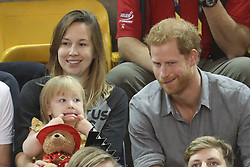 September 27, 2017 - Toronto, Canada - Image licensed to i-Images Picture Agency. 27/09/2017. Toronto, Canada. Prince Harry at the sitting volleyball competition on day five of the  Invictus Games in Toronto, Canada.  Picture by Stephen Lock / i-Images (Credit Image: © Stephen Lock/i-Images via ZUMA Press)