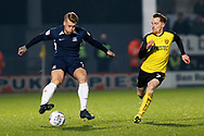 Stephen Humphrys cuts inside of Stephen Quinn during the EFL Sky Bet League 1 match between Burton Albion and Southend United at the Pirelli Stadium, Burton upon Trent, England on 3 December 2019.