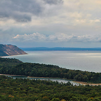 """""""North Bar Lake and Empire Bluff""""<br /> <br />      A wonderful vista. North Bar Lake , Lake Michigan, and Empire Bluff. Part of the amazing beauty of Michigan!<br /> <br /> The Great Lakes by Rachel Cohen"""