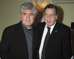 Left to right, directors PEDRO ALMODOVAR and STEPHEN FREARS attending the 27th Awards of the London Film Critics' Circle 2007 in aid of the NSPCC held at The Dorchester, Park Lane, London on 8th February 2007.<br />